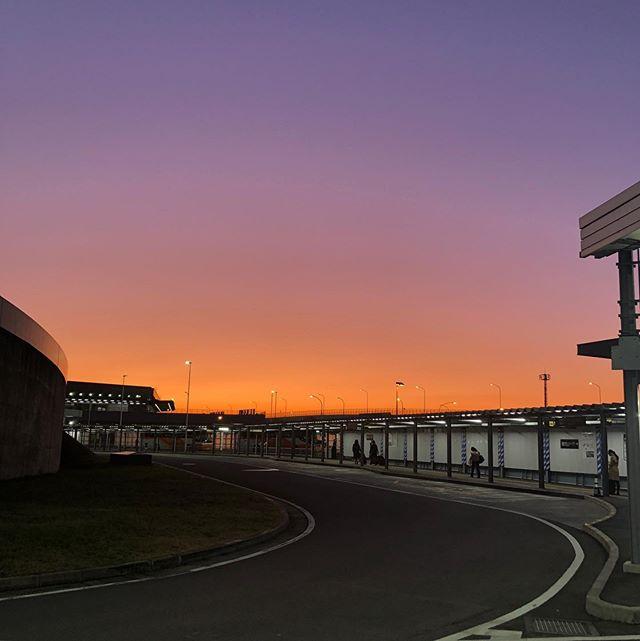 成田空港の夕景