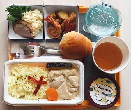 JAL BISTRO de SKY / 北海道セット・ホワイトカレー