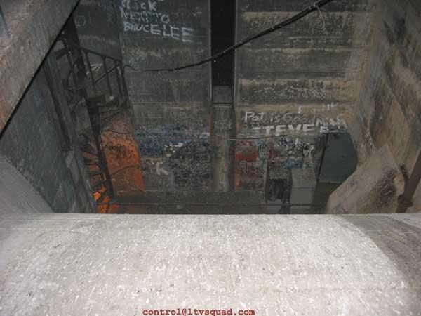 Looking down - decades of graffiti