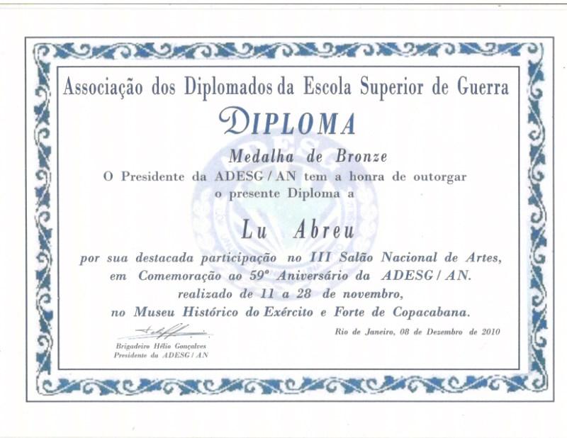 III Salón Nacional de Artes de la Asociación de Graduados de la Escuela de Guerra - Copacabana / RJ