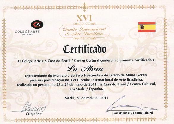 XVI Circuito Internacional de Arte Brasileño - Madrid / España