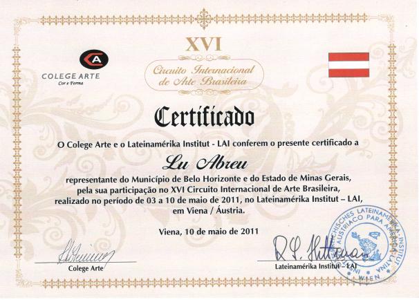 XVI Circuito Internacional de Arte Brasileño -  Viena / Austria