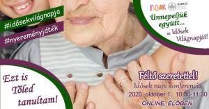 """Idősek Világnapja Online Konferencia – """"Féltő szeretettel"""""""