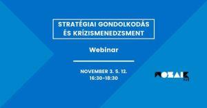 Stratégiai gondolkodás és krízismenedzsment // Webinar civil szervezeteknek