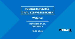 Forrásteremtés civil szervezeteknek // Webinar