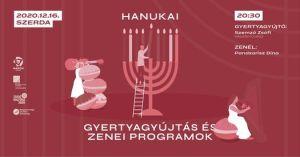 Hanuka Magyar Borival – Gyertyagyújtás és Lakáskoncert