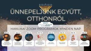 Hanukai Zoom programok minden nap