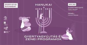 Hanuka Lamm Dáviddal – Gyertyagyújtás és Lakáskoncert