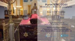 Purimi élő közvetítés a Bethlen téri zsinagógából