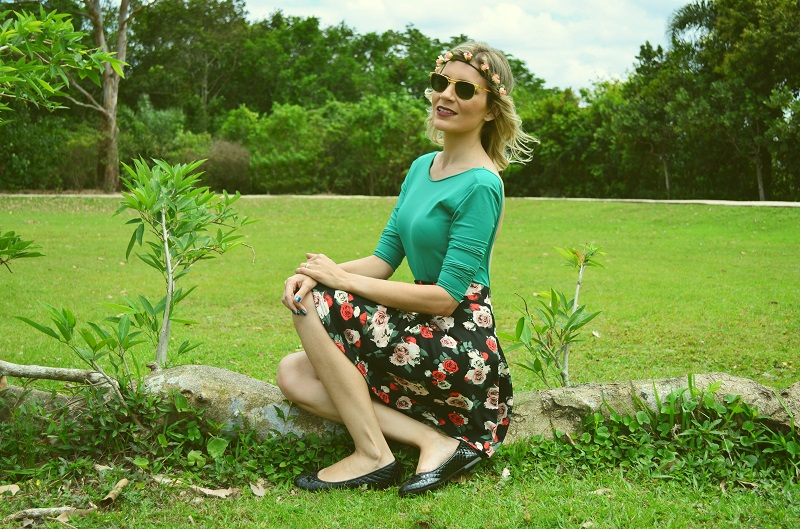 look do dia saia floral - luana viana 3