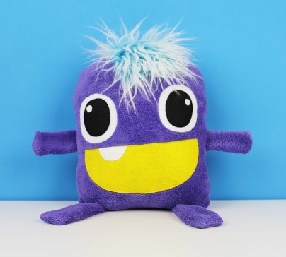 cute purple huge stuffed monster toy for kids