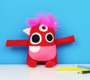 handmade valentines day stuffed monster toy