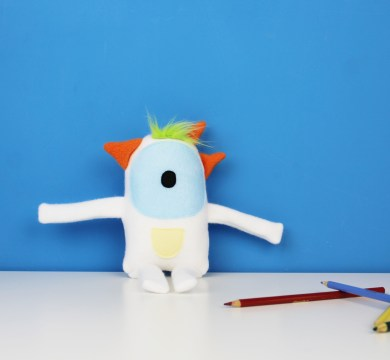 white stuffed monster toy mini yeti