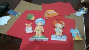 boneca1 300x169 - Brincando com bonecas de papel