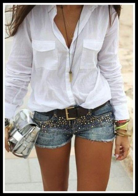 blusa-branca-com-short-jeans