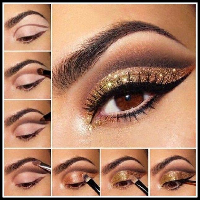 maquiagem dourada - PASSO A PASSO DE  MAQUIAGENS VARIADAS PARA AS FESTAS DE FINAL DE ANO