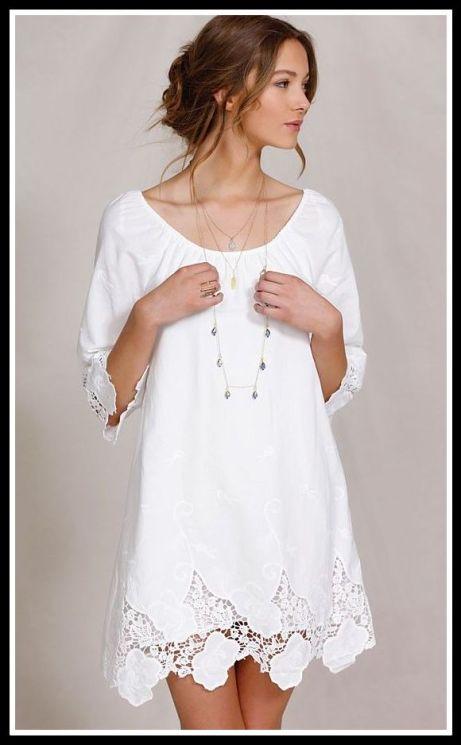 vestido branco com aplicacões ano novo - ROUPAS PARA A VIRADA DO ANO