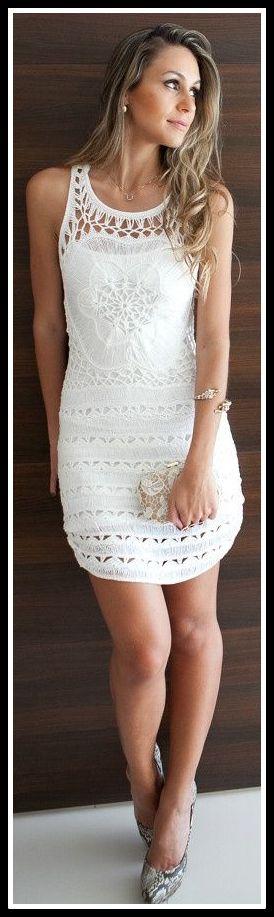 vestido branco rendado - ROUPAS PARA A VIRADA DO ANO
