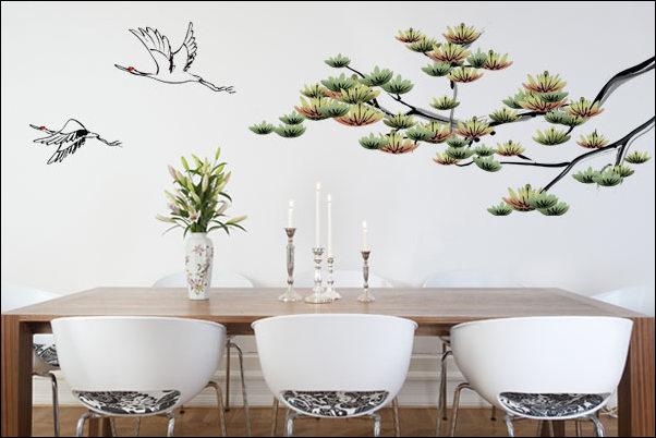 adesivo parede decoracao  - COMO DECORAR GASTANDO POUCO COM ADESIVOS