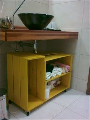 armario de caixotes economize.catracalivre.com .br .br  - COMO DECORAR SUA CASA GASTANDO POUCO COM PALLETS E CAIXOTES