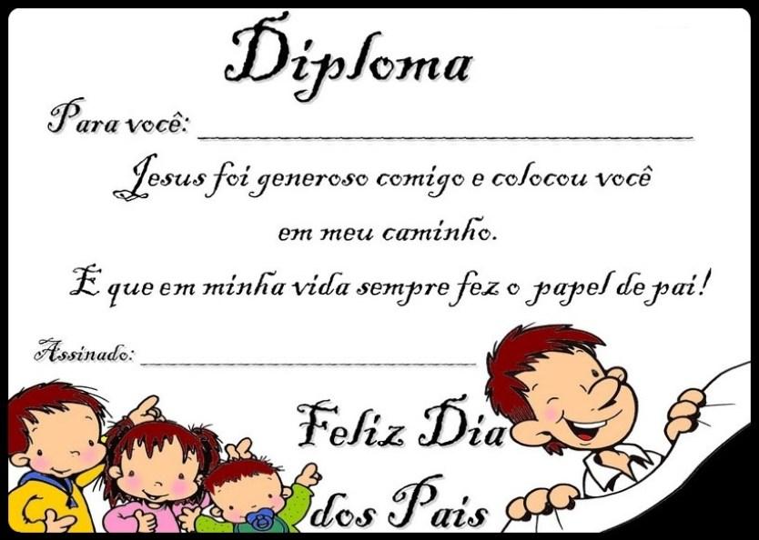 Diploma dia dos pais 2 evangelico colorido - CARTÕES E MENSAGENS PARA O DIA DOS PAIS PARA IMPRIMIR