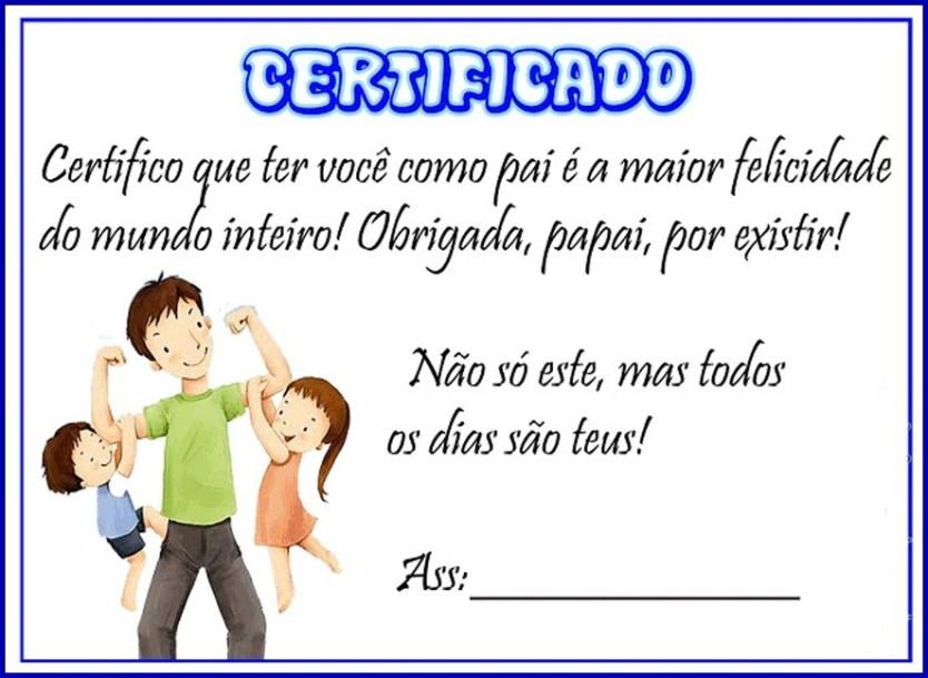 certificado papai1 - CARTÕES E MENSAGENS PARA O DIA DOS PAIS PARA IMPRIMIR