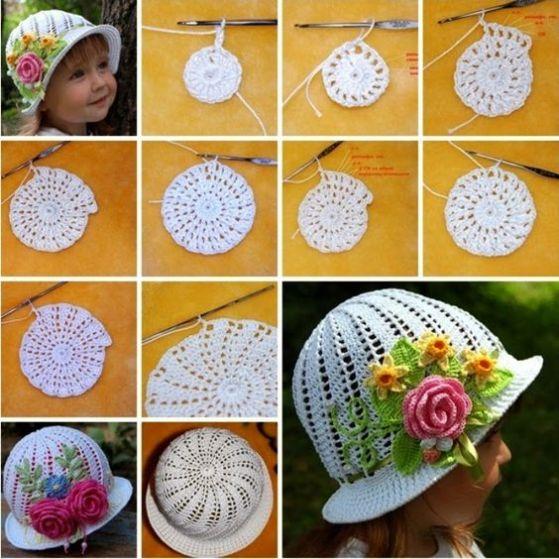 chapéu com grafico - LINDOS MODELOS DE CHAPÉUS DE CROCHÊS INFANTIS