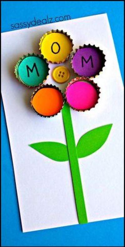 cartao facil de fazer para mães.1 - FAÇA VOCÊ MESMA LEMBRANÇAS E CARTÕES PARA O DIA DAS MÃES