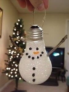Lampada para pendurar - Decoração para Natal e Ano Novo: baratas e fáceis