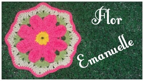 flor em crochê emanuelle