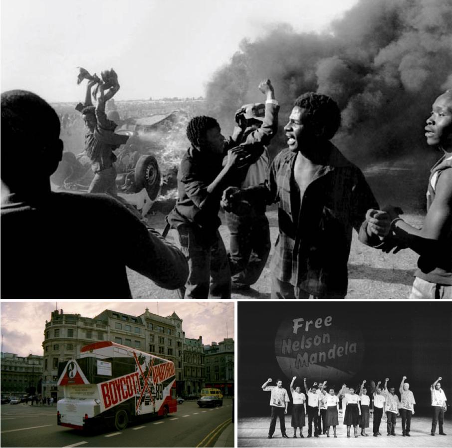 """Nam Phi với vấn nạn Apartheid cũng trở thành một vật """"tế thần"""" quen thuộc trong các kì giám sát. Ảnh: Origins."""