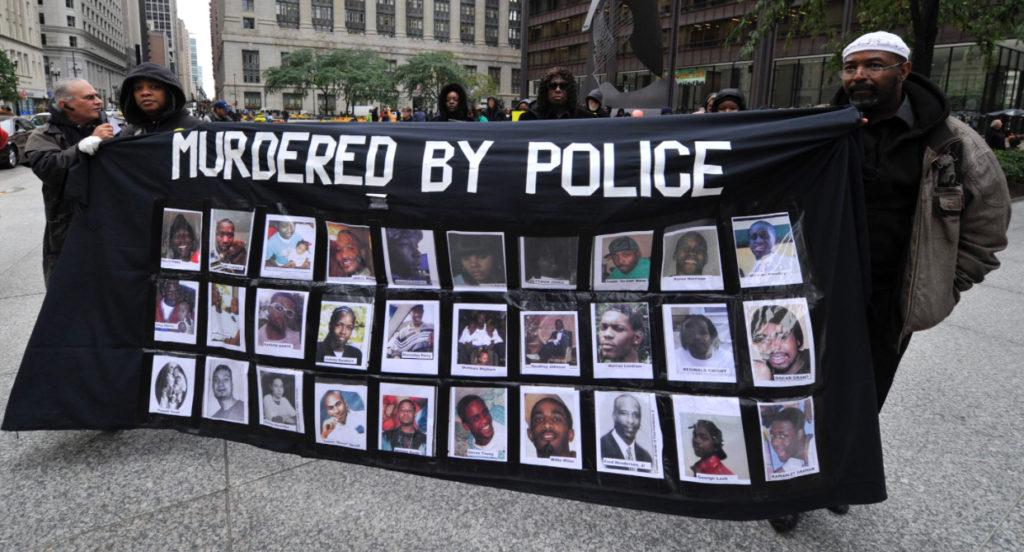 Biểu tình phản đối cảnh sát giết người ở Mỹ. Ảnh: affinitymagazine.us.