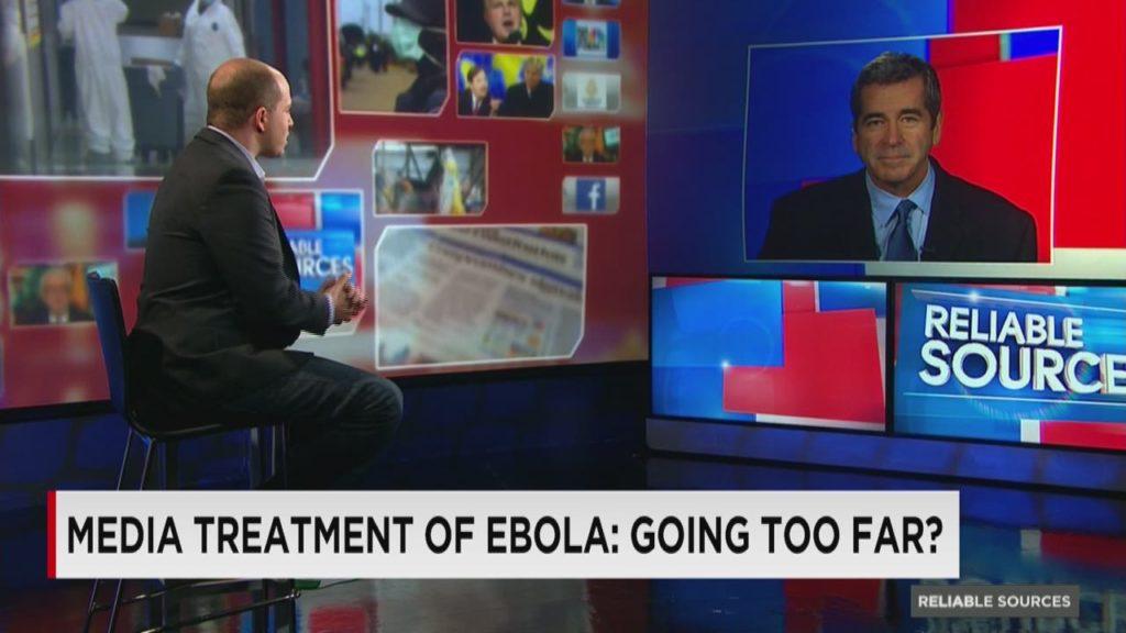 Một chương trình của CNN năm 2014 thảo luận về việc có phải truyền thông đã đi quá xa trong việc đưa tin về dịch Ebola. Ảnh: CNN.