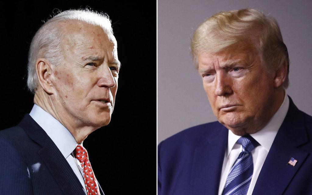 Ông Jode Biden và ông Donald Trump. Ảnh: AP.