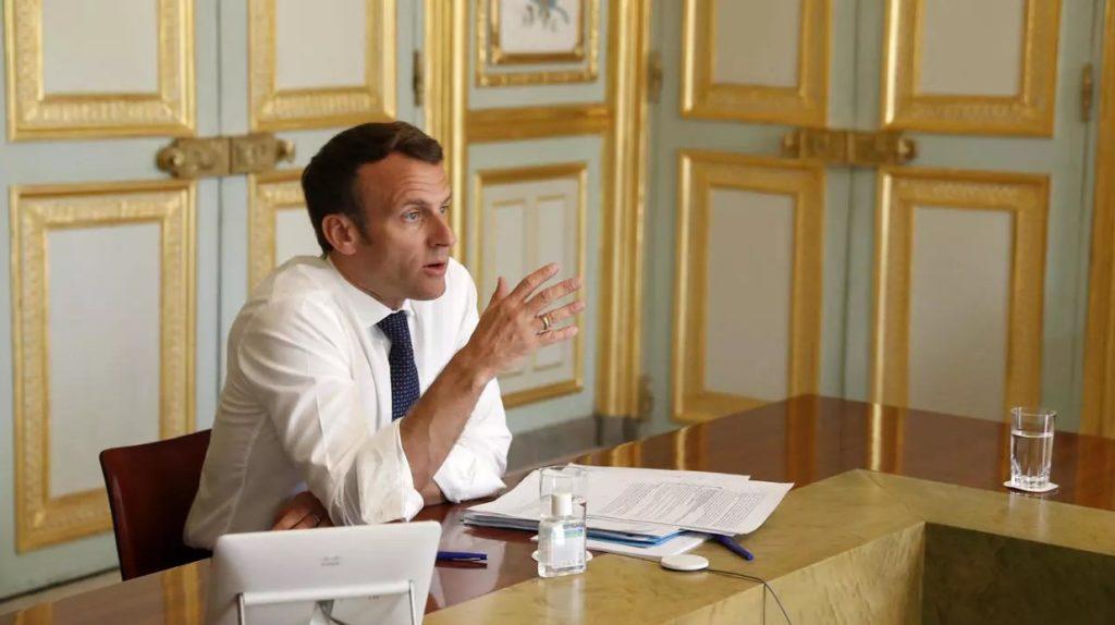 Tổng thống Pháp Emmanuel Macron tại Điện Elysee ngày 16/4/2020. Ảnh: Reuters.