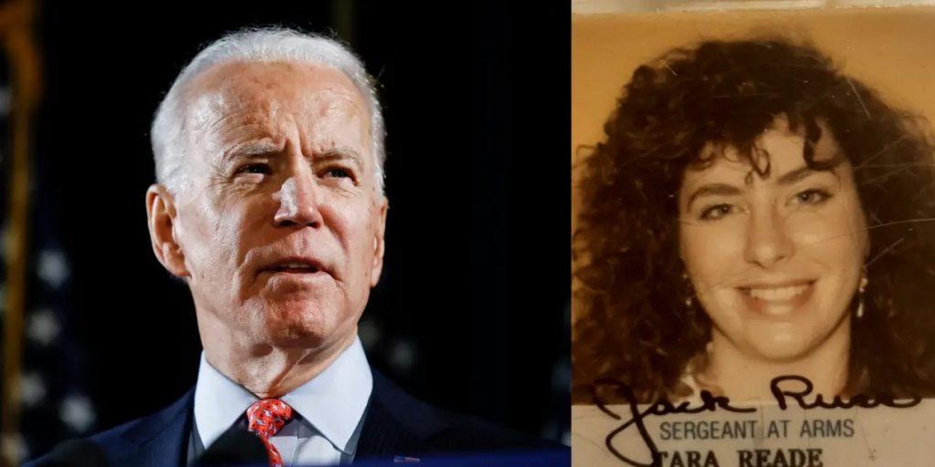 Ứng cử viên Joe Biden, và bà Tara Reade vào năm 1993. Ảnh: AP.