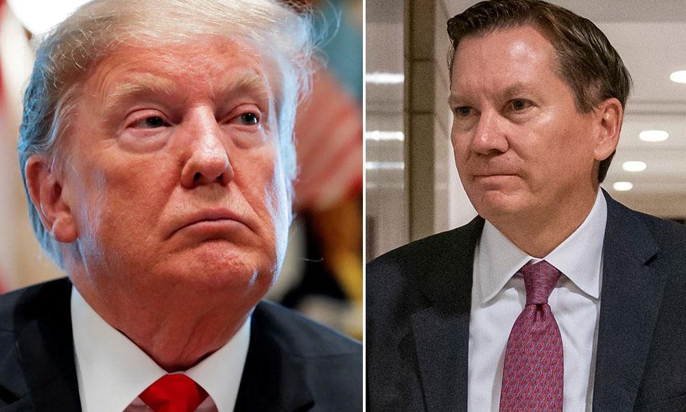 Tổng thống Mỹ Donald Trump và Tổng Thanh tra Tình báo Mỹ Michael Atkinson. Ảnh: Political Dig.