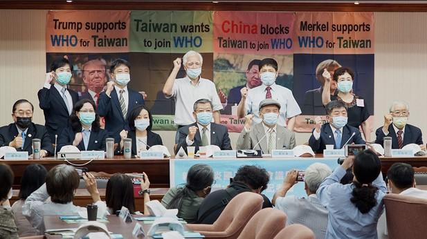 Một cuộc họp báo của chính phủ Đài Loan vận động tham dự WHA năm nay. Ảnh: RFA.