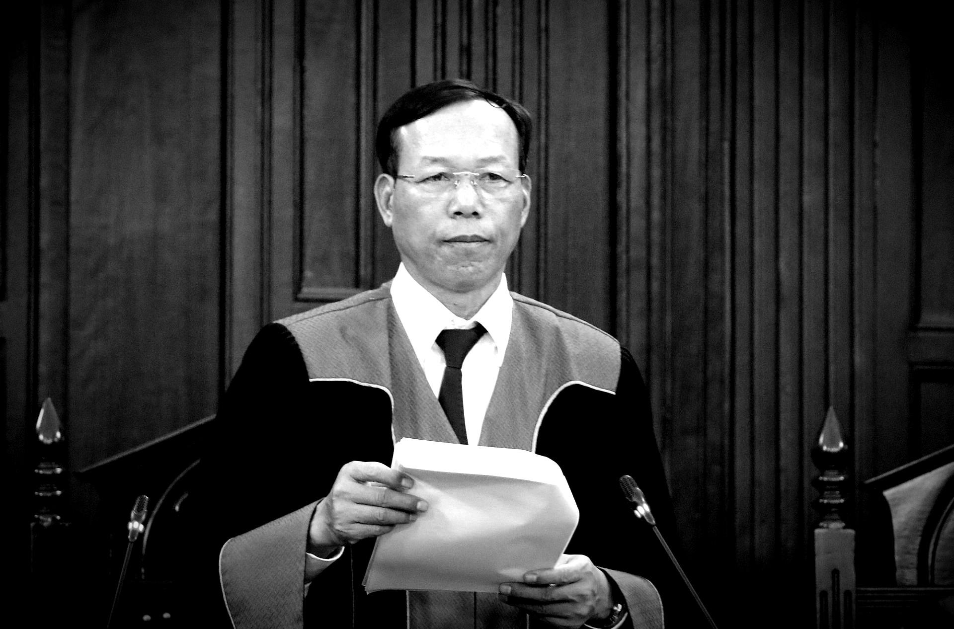 Ông Nguyễn Trí Tuệ, Phó Chánh án TANDTC, một trong 17 thành viên Hội đồng Thẩm phán phiên giám đốc thẩm Hồ Duy Hải. Ảnh: Dương Văn Giang/Thông Tấn Xã Việt Nam.
