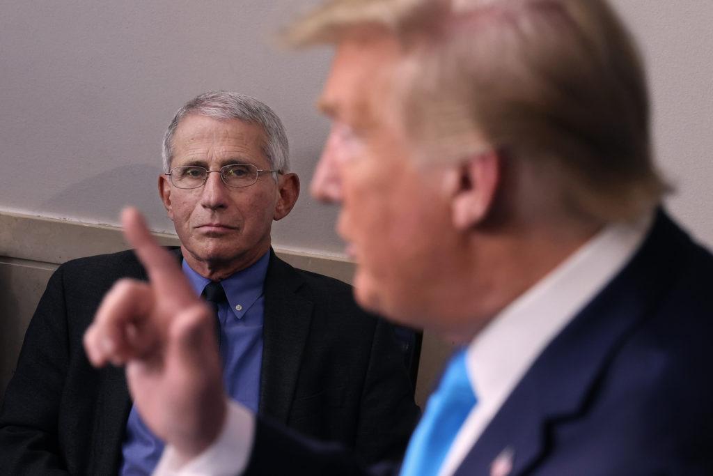 Bác sĩ Anthony Fauci trong một cuộc họp báo tại Nhà Trắng. Ảnh: Getty Images.