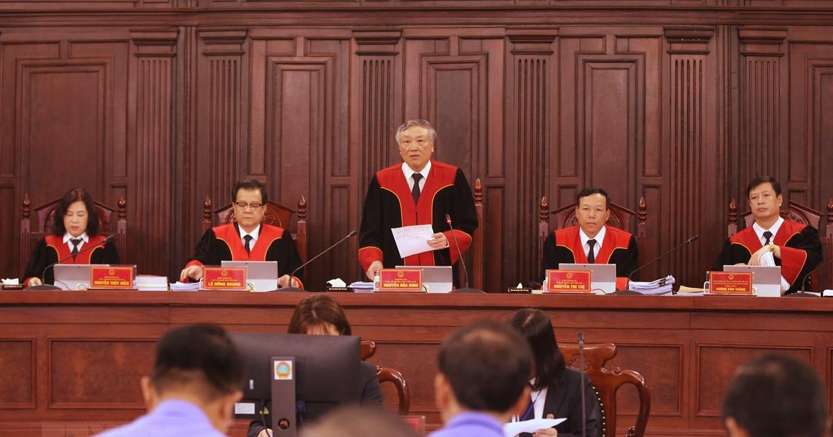 Phiên tòa giám đốc thẩm vụ án Hồ Duy Hải ngày 6/5/2020. Ảnh: TTXVN.