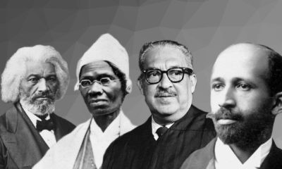 Từ trái qua phải: Frederick Douglass, William Edward, Sojourner Truth, Thurgood Marshall, Burghardt Du Bois. Ảnh: Tổng hợp nhiều nguồn.