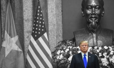 Tổng thống Mỹ Donald Trump trong chuyến thăm Việt Nam ngày 27/2/2019. Ảnh: Saul Loeb/AFP via Getty Images.