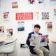Tổng biên tập Hồ Tích Tiến của Thời báo Hoàn Cầu tại trụ sở của cơ quan này ở Bắc Kinh. Ảnh: New York Times.