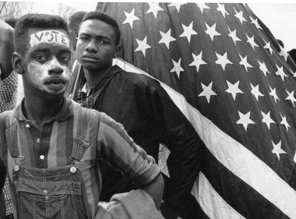 Cử tri da đen đòi quyền bỏ phiếu ở Mỹ. Ảnh: crmvet.org.