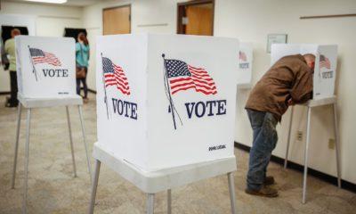 Một phòng bỏ phiếu ở Mỹ. Ảnh: Getty Images.
