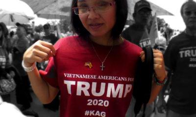 Một nhóm cử tri Mỹ gốc Việt ủng hộ Tổng thống Donald Trump. Ảnh: Chưa rõ nguồn.