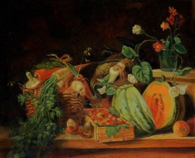 """Овощи и фрукты"" (копия) холст, масло 43х44 2011г."