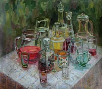 """""""Прозрачный свет"""" холст, масло 63х70 2011г."""