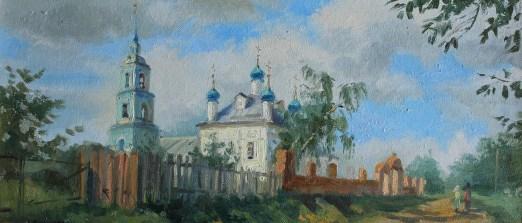 """Улица в Переславле"" холст, масло 25х57 2011г."